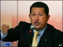 Presidente venezolano Hugo Ch�vez