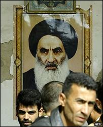 Portrait of Ayatollah Ali Sistani