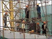 Construction work in Beijing