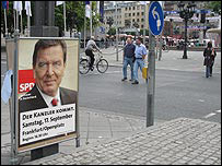 Campaign poster for Gerhard Schroeder's SPD party