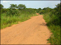 The road outside Shonga, Kwara state, Nigeria