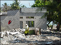 A resident of the small island of Guraidhoo which was devastated by the tsunami