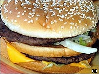 Generic photograph of a hamburger