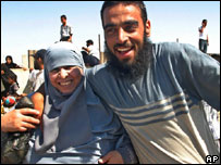Relatives reunited over border between Egypt and Gaza
