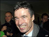 Anders Fogh Rasmussen after casting his vote