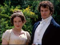 Jennifer Ehle and Colin Firth in the BBC adaptation of Pride and Prejudice