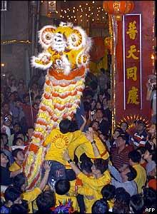 Local Chinese celebrate New Year in Calcutta, India