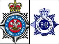 Dyfed-Powys and Gwent Police crests