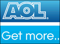 Screen grab of AOL's logo