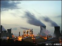 BP's huge oil refinery complex at Grangemouth, Scotland.