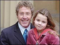 Roger Daltrey and grand-daughter Lily