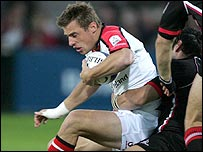 Tommy Bowe scored Ulster's first try against Edinburgh