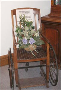 Wheelchair from Victorian asylum