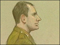 Artist's impression of Cpl Kenyon