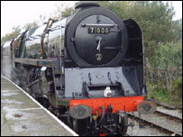 The Duke of Gloucester locomotive - pic by Barry Bleasdale