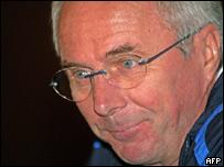 Sven Goran Eriksson, entrenador del seleccionado ingl�s.