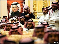 Saudi Arabian election gathering