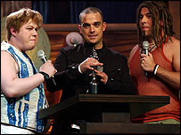 Matt Lucas, Robbie Williams, David Walliams