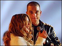 Joss Stone and Robbie Williams