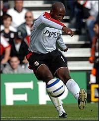 Luis Boa Morte curls home Fulham's goal