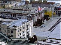 Plaza Kim Il Sung en Pyongyang