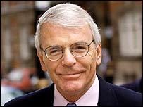 John Major in Westminster on Wednesday