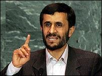 Iranian President Mahmoud Ahmadinejad addresses the UN General Assembly