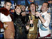 The Scissor Sisters at the Brit Awards
