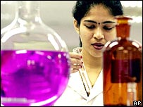 Indian scientist in lab at Cipla Research and Development Facility