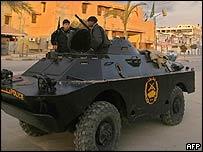 Palestinian police in Gaza