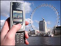 Mobile phone used in London