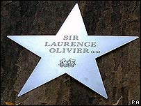 Sir Laurence Olivier's plaque on the Avenue of Stars