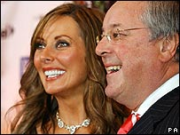 Carol Vorderman and Richard Whiteley