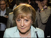 CDU leader Angela Merkel