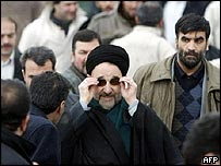 Mohammad Khatami at the Tehran rally