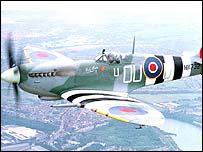 A Spitfire fighter plane