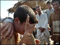 A grieving Iraqi man