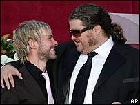 Dominic Monaghan (L) and Jorge Garcia