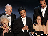 Everybody Loves Raymond cast at the Emmys in 2005