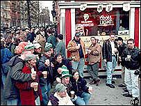 People gather in Dublin