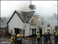 The Three Tuns fire, picture courtesy of Eric Pugh