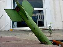Hamas rocket in Israeli home