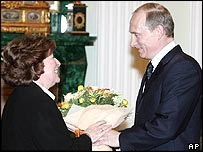 Louise Arbour and Vladimir Putin