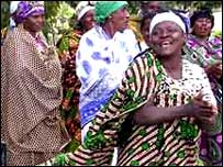 Women singing in Tanzania from BBC New Website reader Loralee Hyde