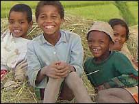 Children smiling in Madagascar from BBC New Website reader Steve Mumford