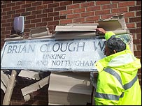 Brian Clough Way signpost