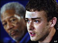 Morgan Freeman and Justin Timberlake