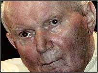 Pope John Paul II leaving Rome's Polyclinic Agostino Gemelli hospital aboard his