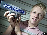 Steven Naismith with his Bank of Scotland award