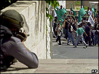 Israeli Arabs demonstrate in Nazareth, 2000